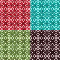 modelli di piastrelle marocchine senza soluzione di continuità vettore