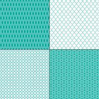 motivi geometrici marocchini blu turchese vettore