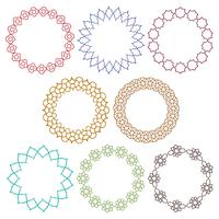 cornici colorate del cerchio marocchino vettore