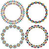 Cornici di piastrelle marocchine del cerchio vettore