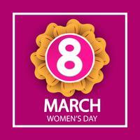 festa della donna, 8 marzo segno di celebrazione su sfondo rosa