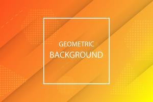 sfondo geometrico arancione e giallo vettore