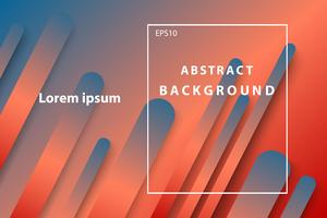 astratto geometrico blu scuro e arancio copertina e sfondo per il desktop