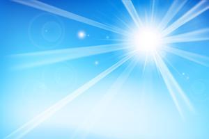 Priorità bassa blu astratta con luce solare 001