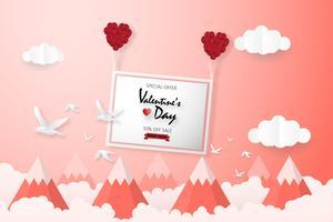 Fondo creativo di vendita di San Valentino. vettore