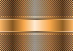 Insegna astratta dell'oro sull'illustrazione moderna di lusso del fondo di progettazione di vettore della maglia di esagono.