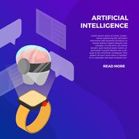 Smart Watch con intelligenza artificiale vettore