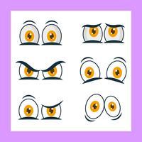 Raccolta di clipart di vettore degli occhi del fumetto