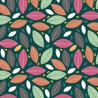 Modello foglie colorate vettore