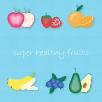 Insieme creativo dell'illustrazione di vettore dei frutti più popolari.