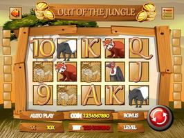 Modello di gioco con animali selvatici nella giungla vettore