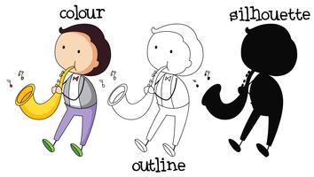 Diversi tipi di grafica del musicista