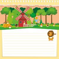 Design di carta con tema di fattoria vettore