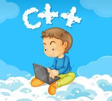 Un ragazzo che codifica c ++ vettore