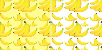 Sfondo senza soluzione di continuità con banane gialle vettore