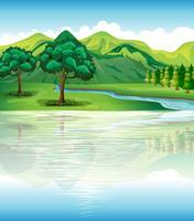 La nostra terra naturale e risorse idriche vettore