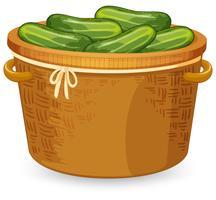 Tessitura di cestini di cetrioli