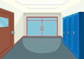 Un corridoio scolastico di design vettore