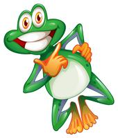 Una rana sorridente vettore