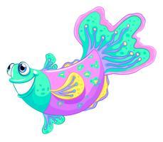 Un pesce colorato vettore