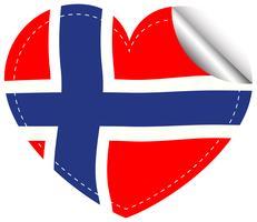 Design adesivo per bandiera della Norvegia vettore
