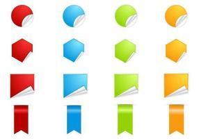 Pacchetto di adesivi Web adesivi vettore