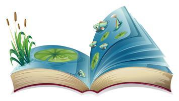 Libro sul fiume vettore