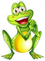 Un'allegra rana verde vettore