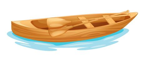 Canoa sull'acqua vettore