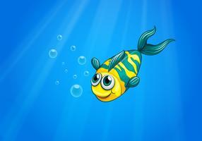 Un pesce che nuota nel mare vettore