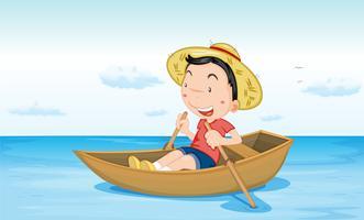 Barca sull'acqua vettore