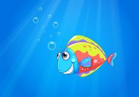 Un colorato brutto pesce sotto il mare