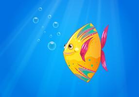 Un pesce sorridente che nuota vettore