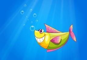 Un pesce nel mare vettore