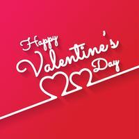 Felice giorno di San Valentino romantico biglietto di auguri vettore