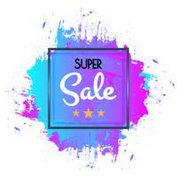 Astratto poster di vendita super, design modello di banner di vendita per il web e dimensioni mobili. vettore