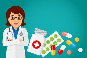 Medico sanitario (donna) vettore