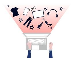 Concetto di acquisto online design piatto