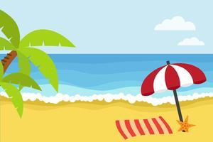Tempo di spiaggia vettore