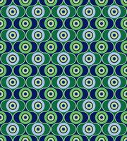 Motivo geometrico astratto. Ornamento di cerchio Ornamento di piastrelle a pois