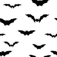 Reticolo senza giunte del pipistrello di Halloween. Sfondo di festa di Halloween vettore