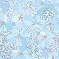 Motivo floreale senza soluzione di continuità. Sfondo di fiori Trama giardino fiorito