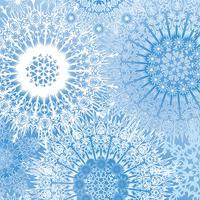 Modello di neve Fondo dei fiocchi di neve di vacanza invernale di Natale