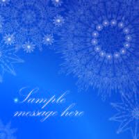Modello di biglietto di auguri di neve. Natale Inverno vacanza sfondo
