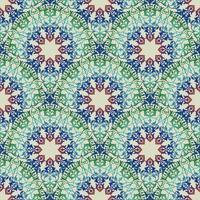 Ornamento floreale arabo di linea di turbinio. Reticolo senza giunte del fiore orientale