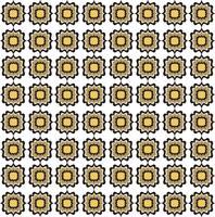 Modello linea senza soluzione di continuità. Ornamento floreale astratto. Trama geometrica