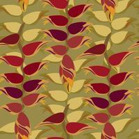foglie d'autunno sfondo modello senza soluzione di continuità vettore