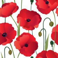 Motivo floreale senza soluzione di continuità. Sfondo di fiori Ornamento di fioritura vettore