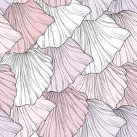 Motivo floreale senza soluzione di continuità, petali di fiori incisi. Consistenza fiorita