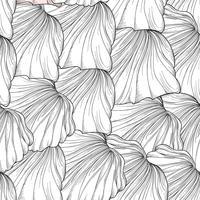 Motivo floreale senza soluzione di continuità, petali di fiori incisi. Consistenza fiorita vettore